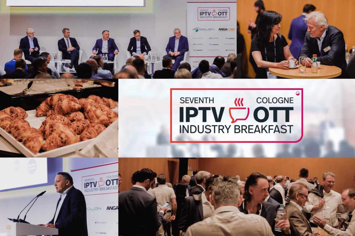 Impressions of the 7th IPTV/OTT Industry Breakfast at AngaCom in Cologne